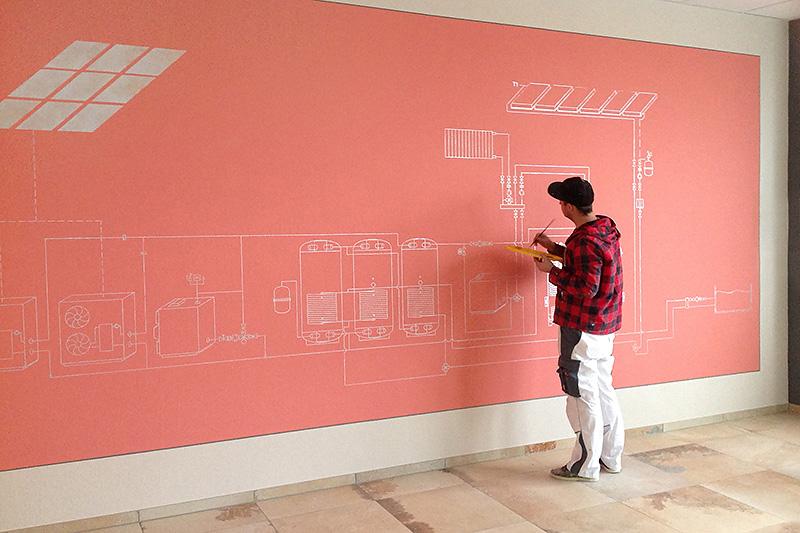 Wandgestaltung - Schaltplan